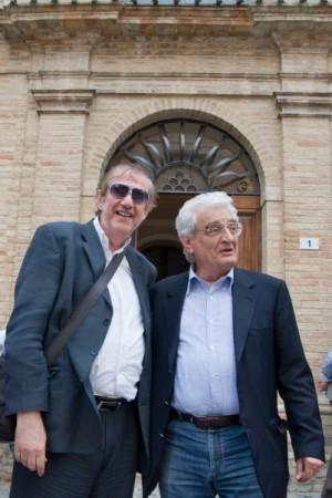 Il giornalista Maurizio Verdenelli e Giulio Conti