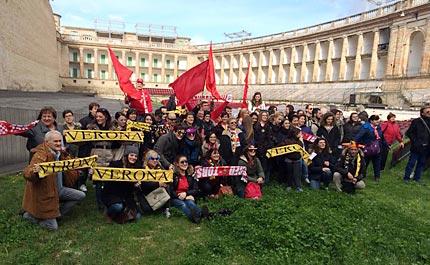 I tifosi di Lube e Verona insieme allo Sferisterio