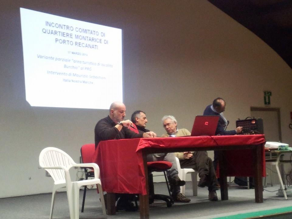 Da sinistra Andrea Dignani (Wwf Marche), Riccardo Picciafuoco (Forum paesaggio Marche) e Maurizio Sebastiani (Italia nostra Marche)