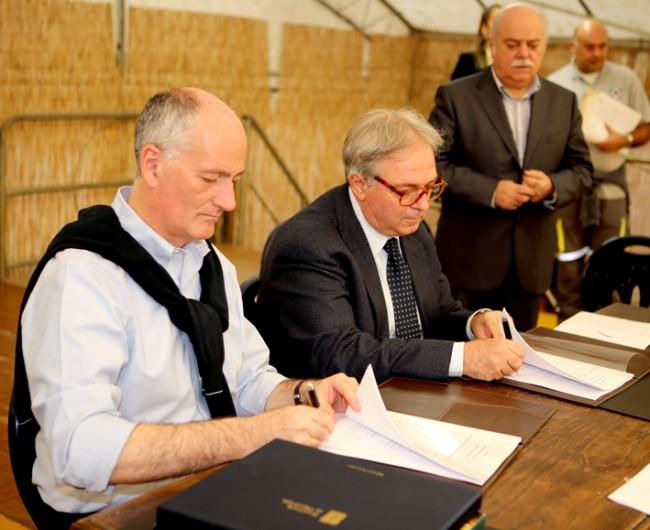 Il prefetto Gabrielli, il presidente Spacca e il presidente Pettinari
