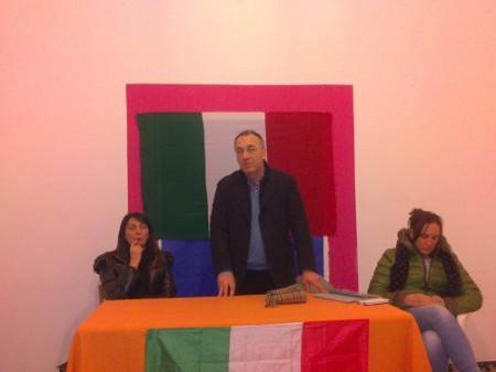 La conferenza di sarnano Futura della scorsa settimana, da sinistra Alberta Tidei, Enzo Marangoni e Deborah Pantana