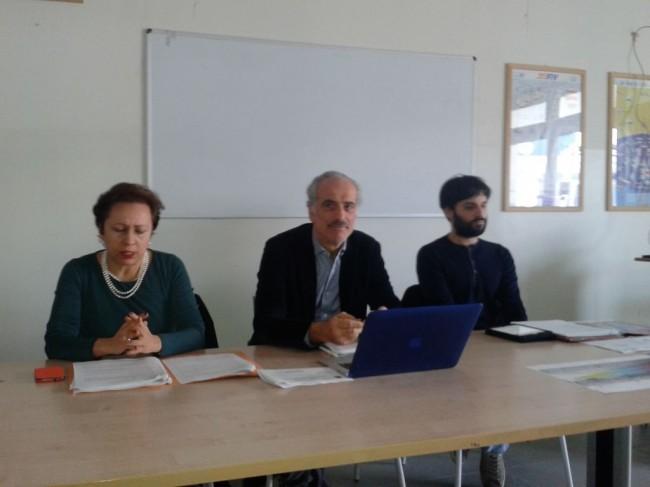 Da sinistra il dirigente Maria Palazzetti, Giulio Silenzi assessore al turismo e Giulio Vesprini ideatore del progetto
