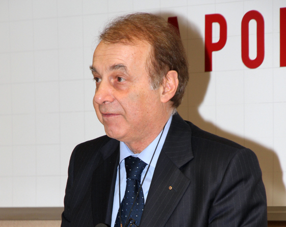 L'ex presidente Mario Volpini
