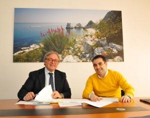 Il governatore delle Marche Gian Mario Spacca e Francesco Comi