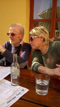 Borbala Ladanyi e il marito Franco Cimini in una foto recente