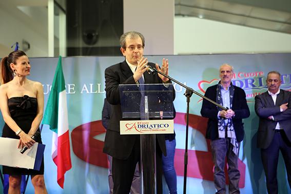 Ivo Costamagna, presidente del Consiglio comunale di Civitanova, durante l'inaugurazione