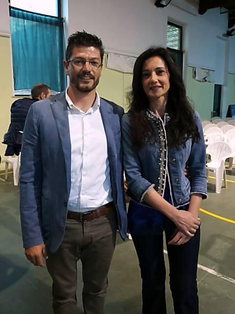 il vice sindaco Lorenzo Riccetti e il sindaco Sabrina Montali