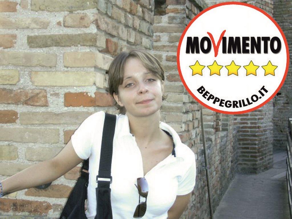 Il candidato sindaco del Movimento 5 stelle di Camerino, Monica Pigotti