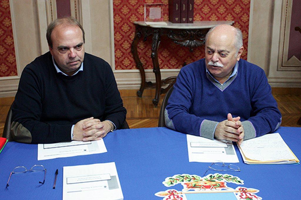 Il presidente della Provincia, Antonio Pettinari, e l'assessore al bilancio Giorgio Palombini
