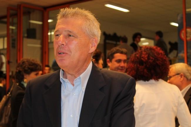 Franco Perlasca, durante l'incontro all'Istituto Bramanti