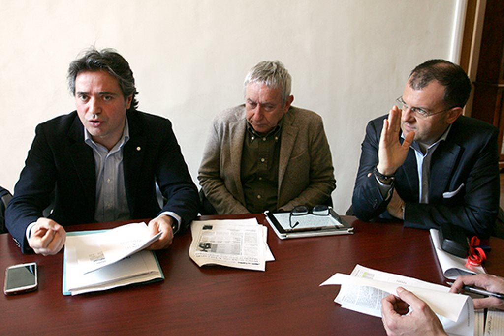 Fabio Pistarelli, Pier Francesco Castiglioni e Riccardo Sacchi