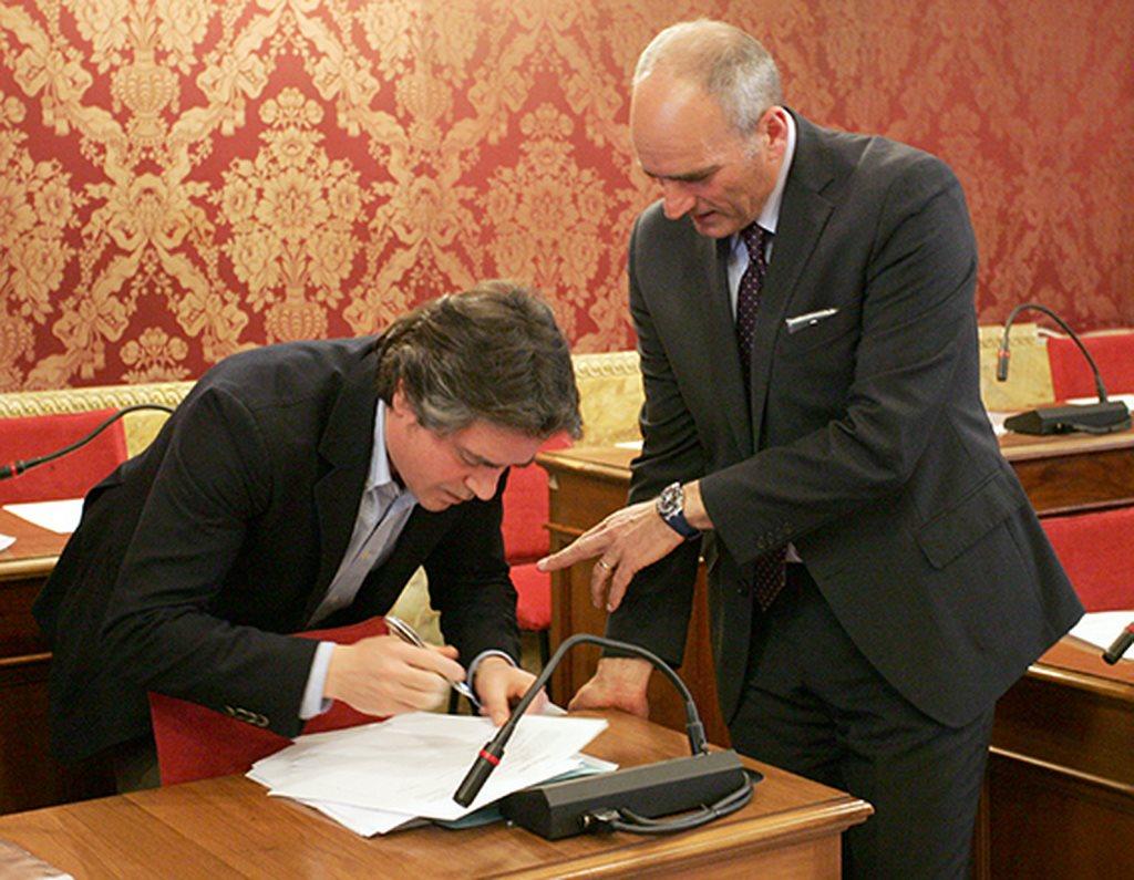 I consiglieri Fabio Pistarelli e Romeo Renis