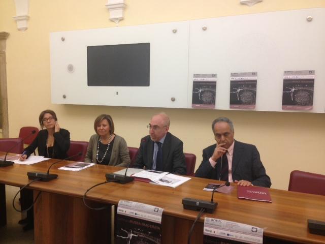 Da sinistra: Bianca Sulpasso, Laura Melosi, Luigi Lacché e Francesco Adornato