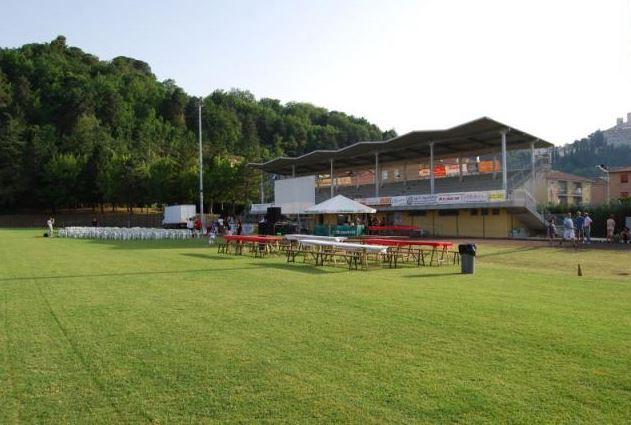 Lo stadio di San Severino dove si giocherà Maceratese-Fano