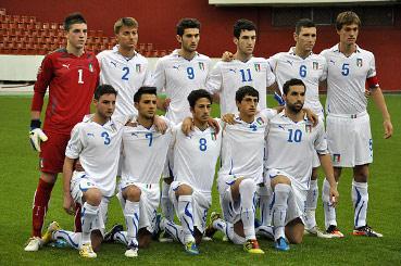 La formazione under 18 dell'Italia