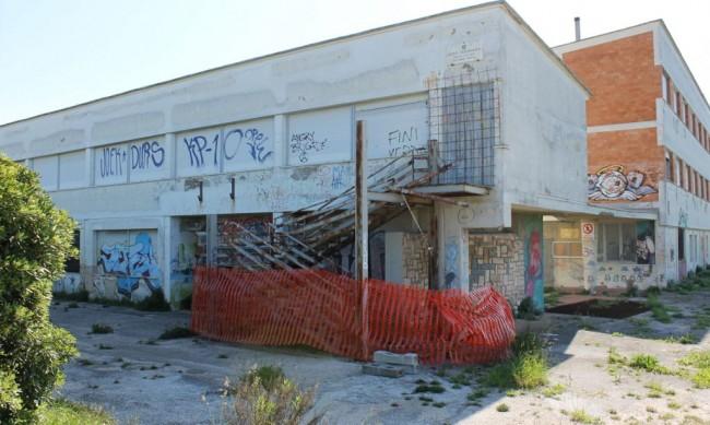 il degrado dell'edificio
