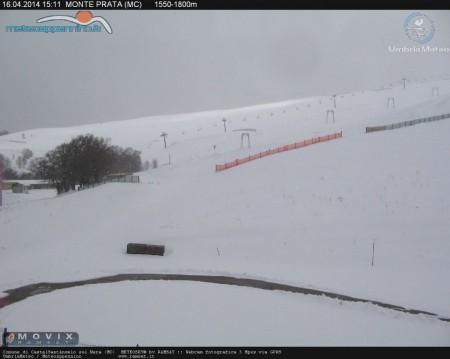 La neve sul monte Prata (foto di meteoappennino.it)