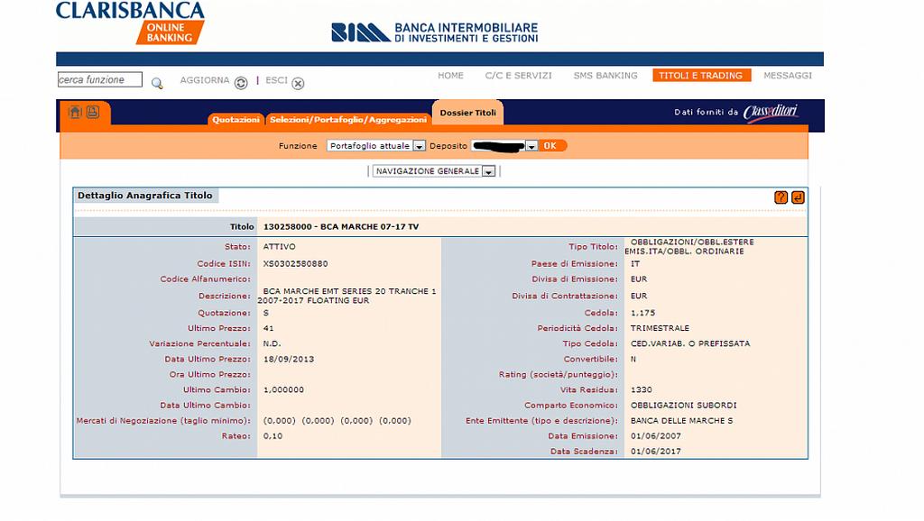 Russiabond pubblica la schermata con l'ordine di acquisto