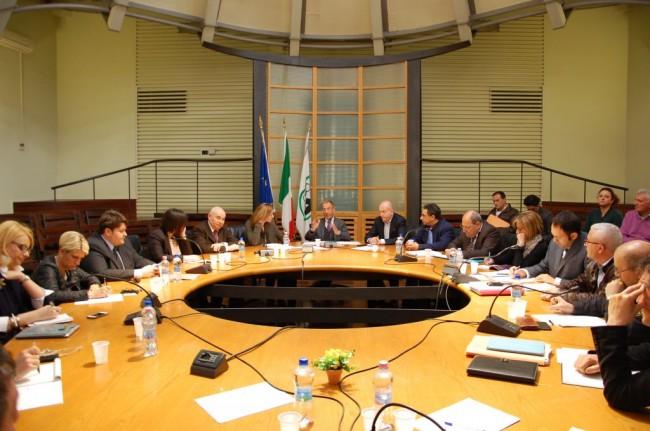 L'incontro tra i parlamentari marchigiani e la commissione