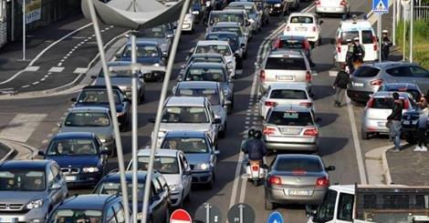 Traffico in tilt nel pomeriggio di ieri