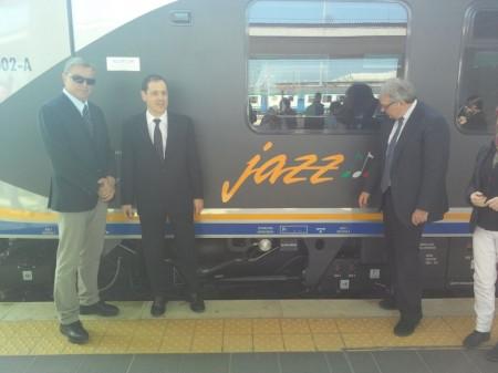 Il treno Jazz che ha preso servizio sulla Ascoli- Ancona