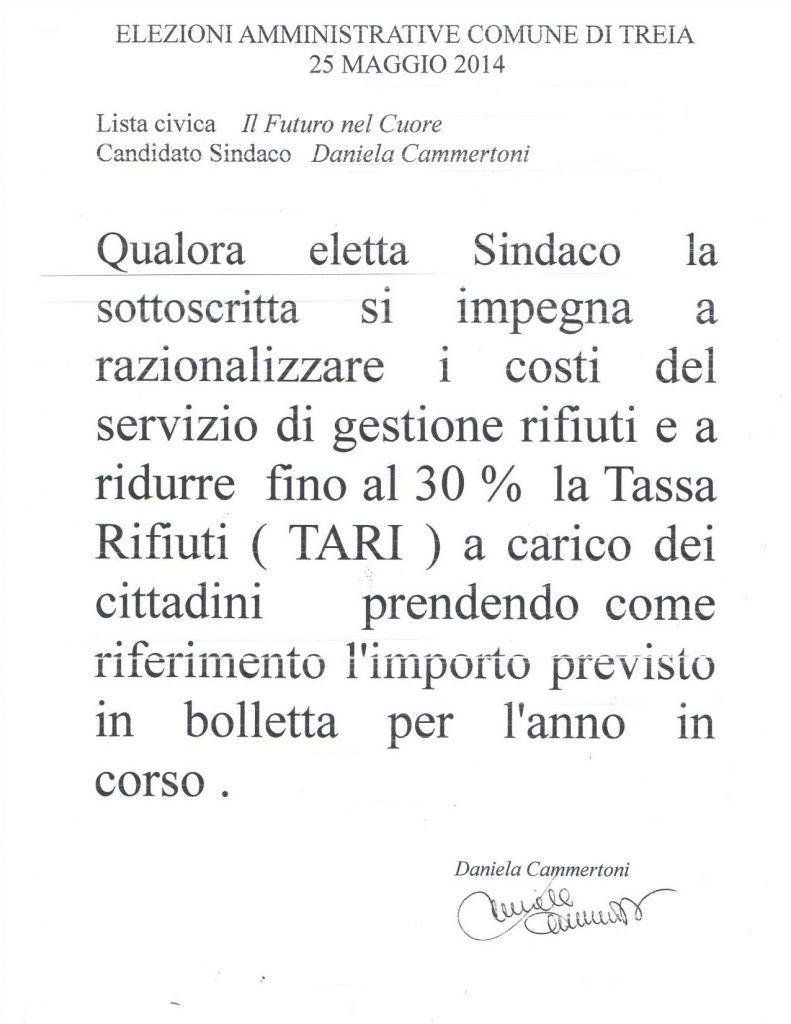 Il contratto di Daniela Cammertoni con i treiesi
