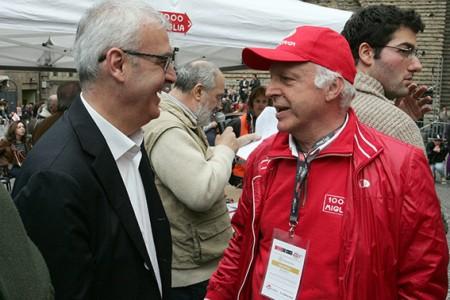 Il sindaco Romano Carancini ed Enrico Ruffini, presidente dell'AC Macerata