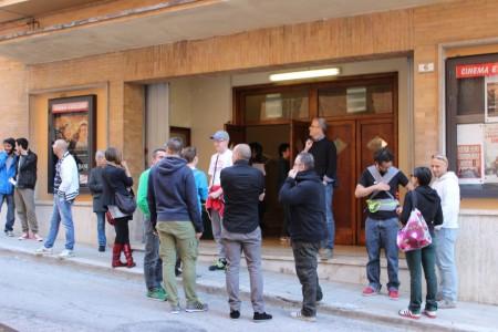 L'ingresso del cinema in via Colle di Montalto 6