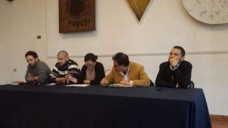 Da sinistra: Michele Schiavoni, Fabio Angeloro, Federica Curzi, Massimiliano Bianchini, Paolo Angeletti