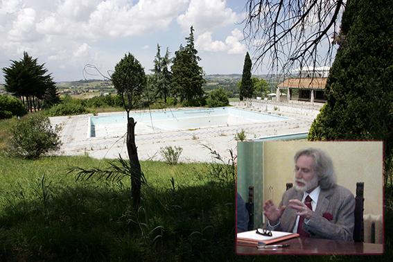 L'attuale struttura di via Ghino Valenti (nel riquadro il presidente Cacchiarelli)