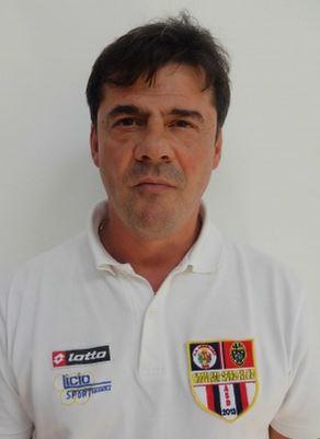 L'allenatore della Cingolana Giorgio Latini