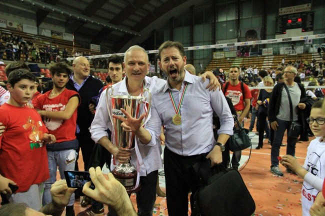 Fabio Giulianelli e coach Alberto Giuliani