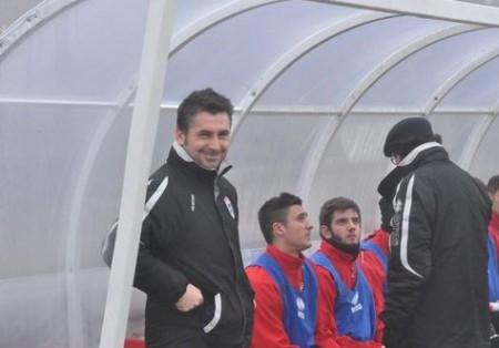 L'allenatore della Maceratese Giuseppe Magi