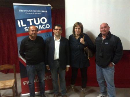 Fiordomo con i candidati  Tania Brizi, Roberto Pretini, Davide Tramannoni