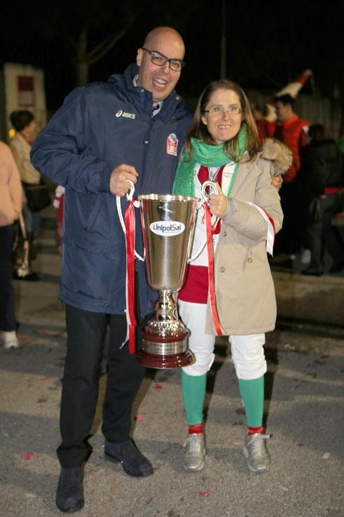 L'addetto stampa Marco Tentella con la presidentessa Simona Sileoni
