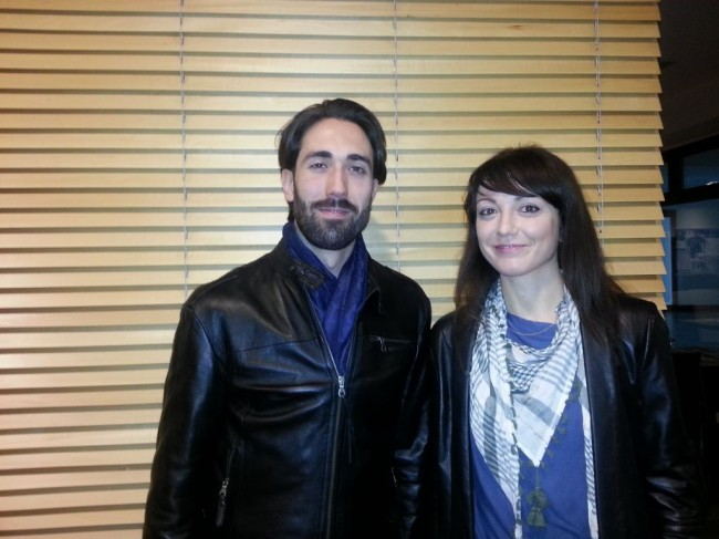 Giorgio Calistro e Sara Lorenzetti sono due dei precari di Banca Marche