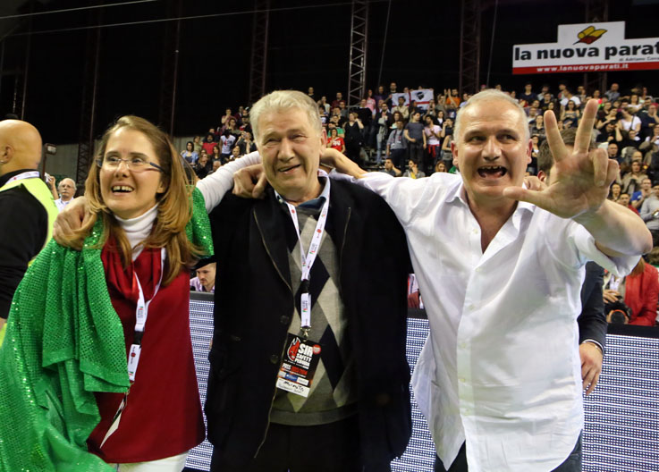 Simona Luciano Sileoni Fabio Giulianelli vittoria scudetto lube 2014