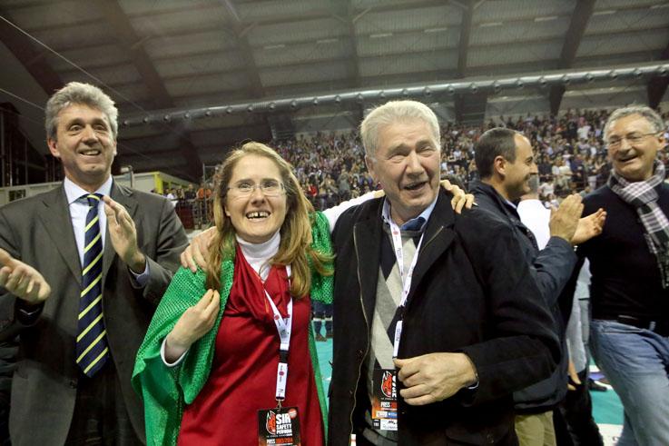 Simona Sileoni Luciano Sileoni vittoria scudetto lube 2014