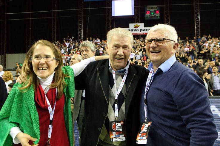 Simona Sileoni Luciano Sileoni vittoria scudetto lube