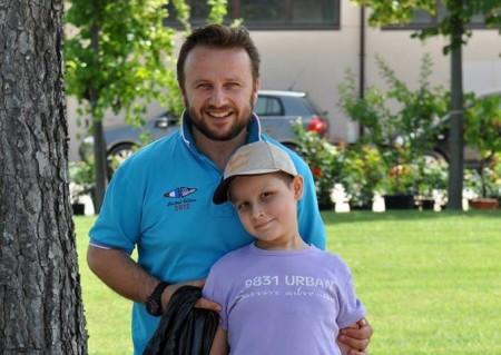 Valentina con il papà Amos Pazzaglia