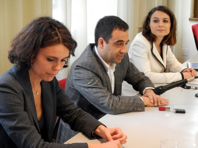 Simona Bonafè, Francesco Comi e Manuela Bora