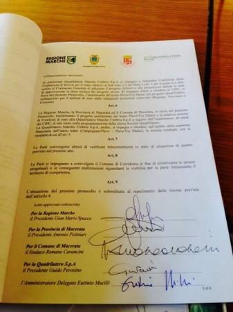 Il protocollo firmato a Roma