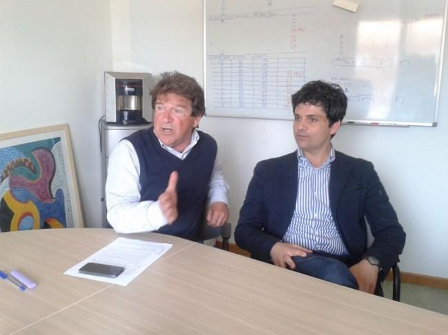 Flavio Rogani presidente Gas Marca e Mario Perugini responsabile regionale Unione nazionale consumatori