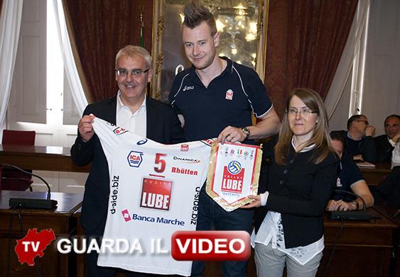 Romano Carancini, Ivan Zaytsev e Simona Sileoni (Clicca sulla foto per guardare il video)