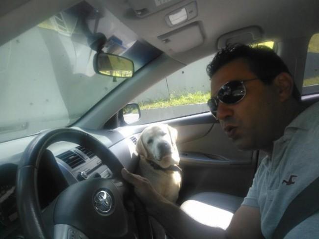 Con il cane Asia