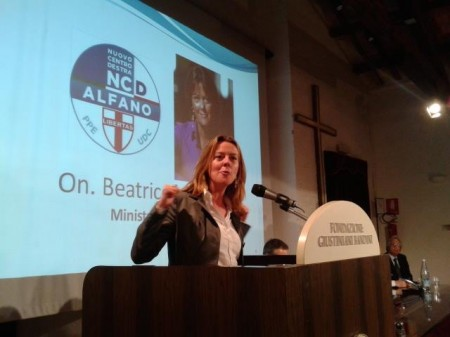 La ministra della Sanità Beatrice Lorenzin