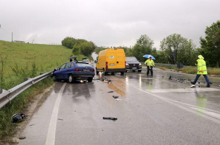 L'incidente all'uscita della superstrada a Sforzacosta