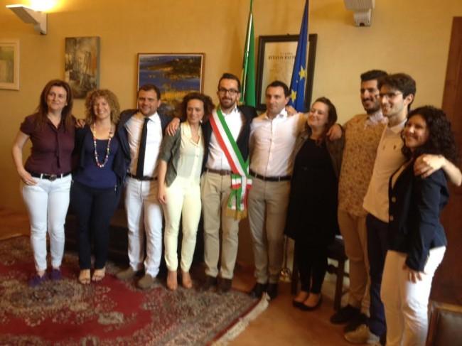La squadra di Andrea Gentili, sindaco di Monte San Giusto