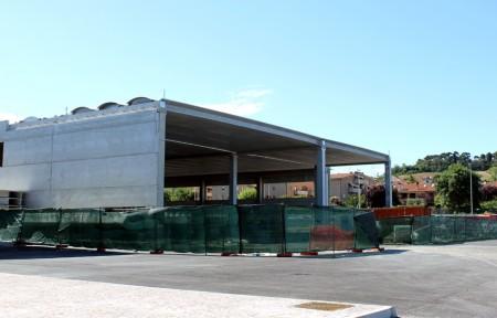 La struttura del palas in costruzione a Civitanova