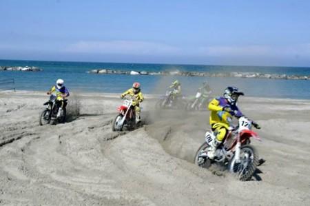 Una gara di motocross